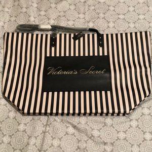 Victoria's Secret striped tote bag. NWT